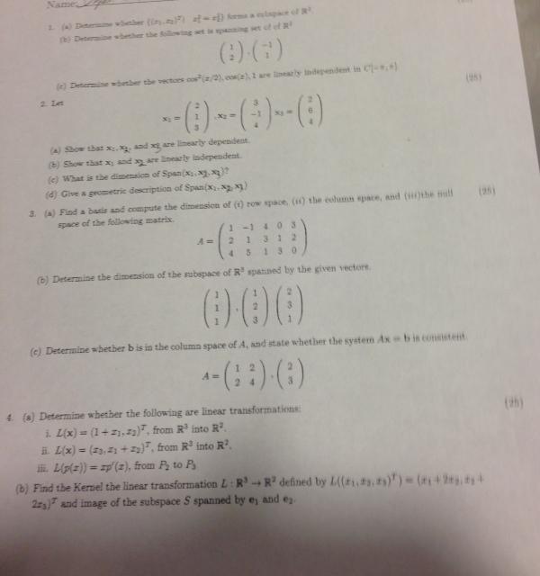 Determine Whether {(x1, X2 } X 2/3 = X 2/3 } Forms...   Chegg.com