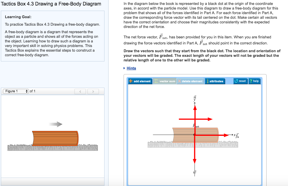 Solved tactics box 43 drawing a free body diagram in the question tactics box 43 drawing a free body diagram in the diagram below the book is represented by a bla ccuart Choice Image