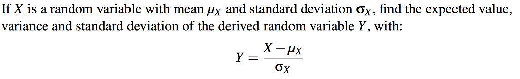 how to find the standard deviation of a random variable