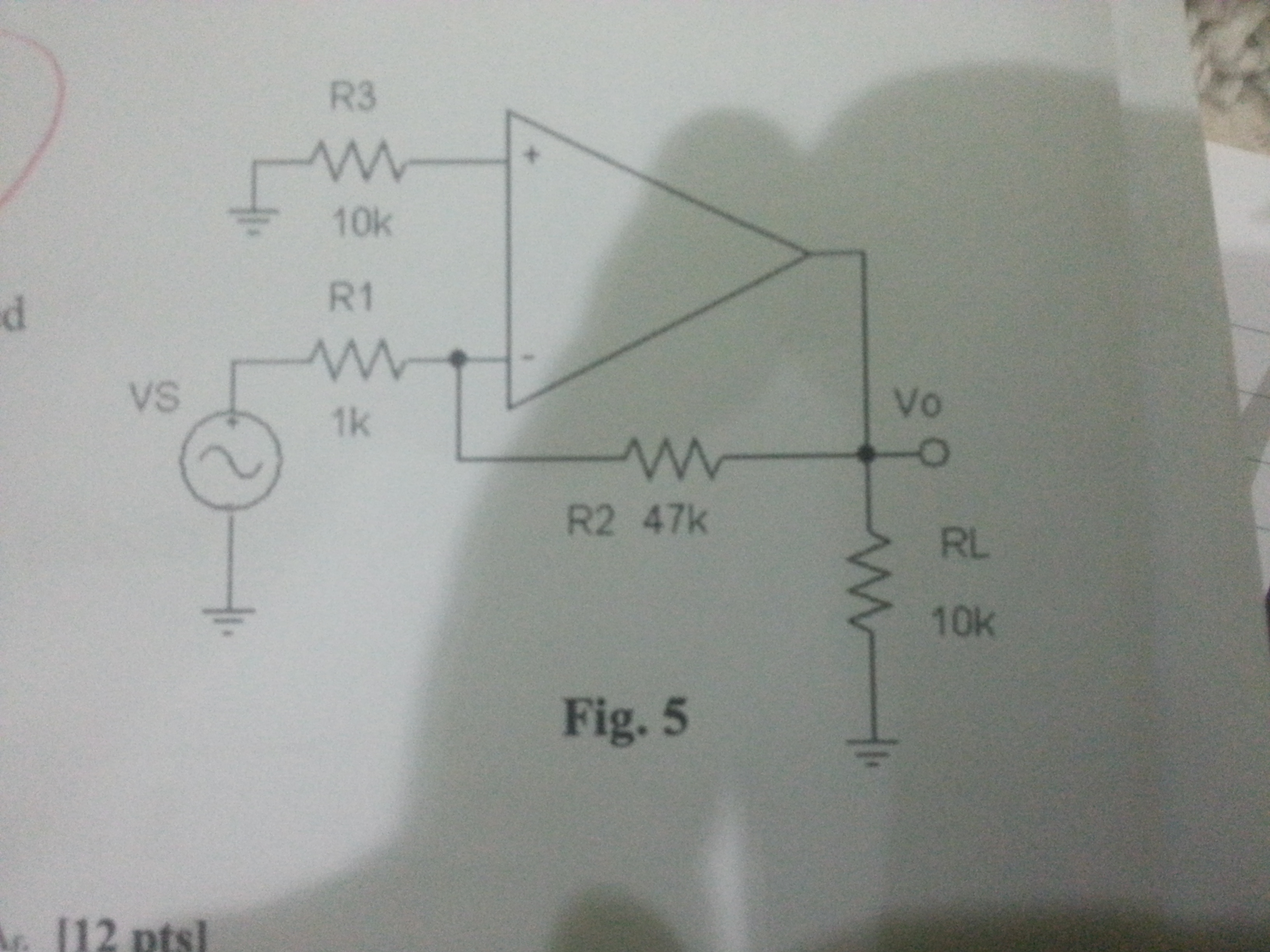 for attached feedback Amp circuit A- identify