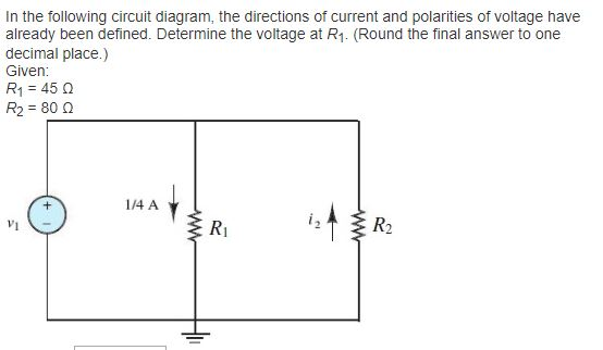 Solved: In The Following Circuit Diagram, The Directions O ...