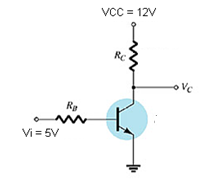 Determine the RC and RB for the following circuit