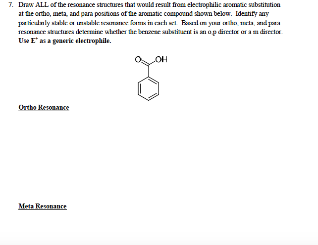 Question: Draw ALL of the resonance structures that would result fromelectrophilic aromatic substitutiona...