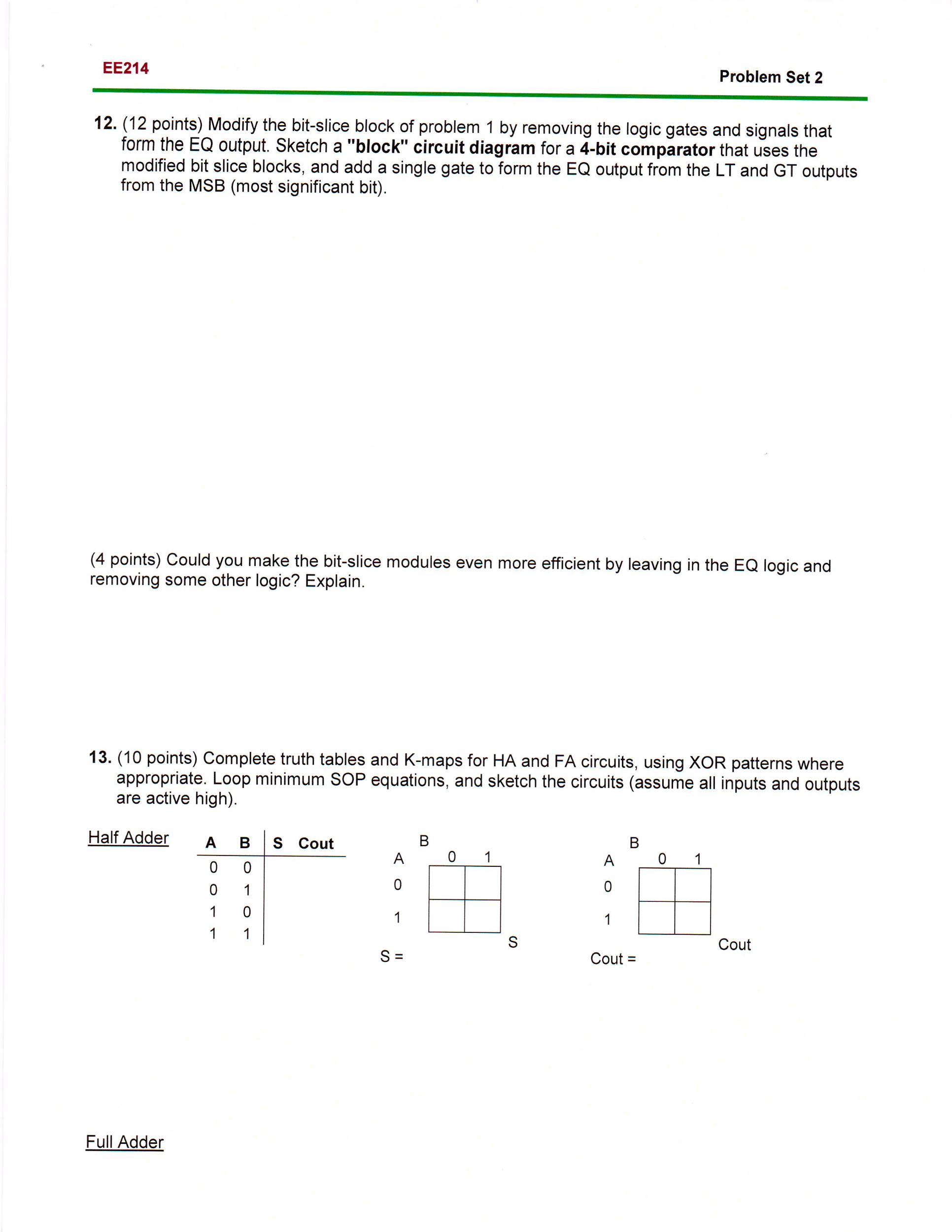 problem set points modify the bit slice com 12 points modify the bit slice