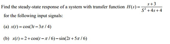 Find the steady-state response of a system with tr