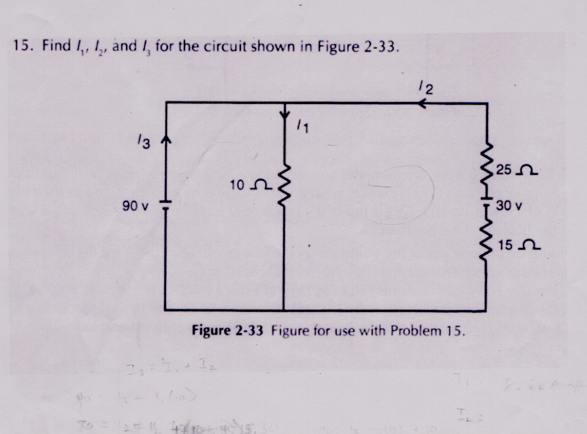 Find l1, l2, and l3 for the circuit shown in Figur