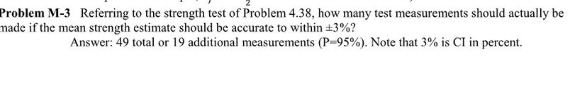 Referring to the strength test of Problem 4.38, ho