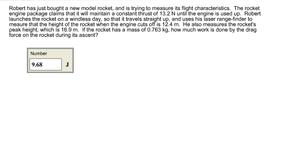 Robert has just bought a new model rocket, and is