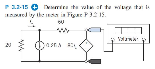 Determine the value of the voltage that is measure
