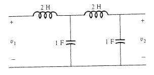 Find the voltage transfer function that connects t