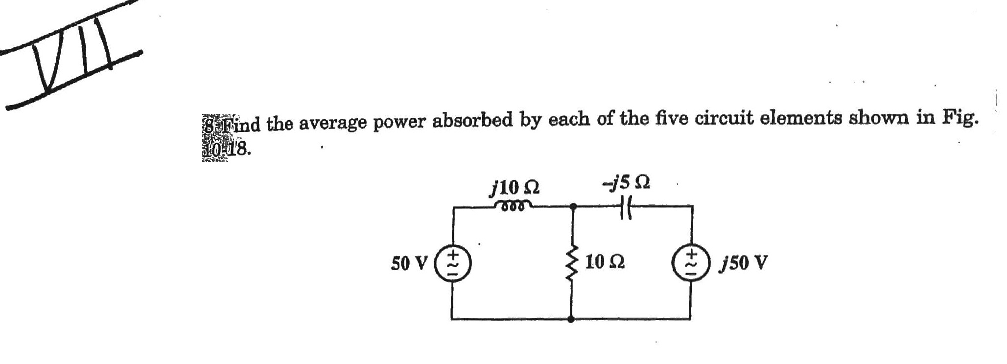 Find the average power absorbed by each of the fi