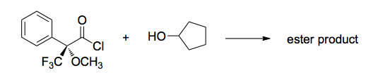 The combination of acid chlorides and alcohols res