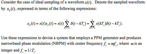 Consider the case of ideal sampling of a waveform