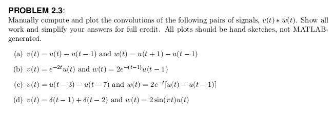 Manually compute and plot the convolutions of the
