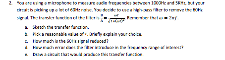 You are using a microphone to measure audio freque