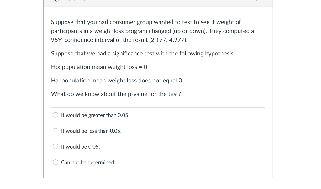 Solved: Suppose That You Had Consumer Group Wanted To Test ...