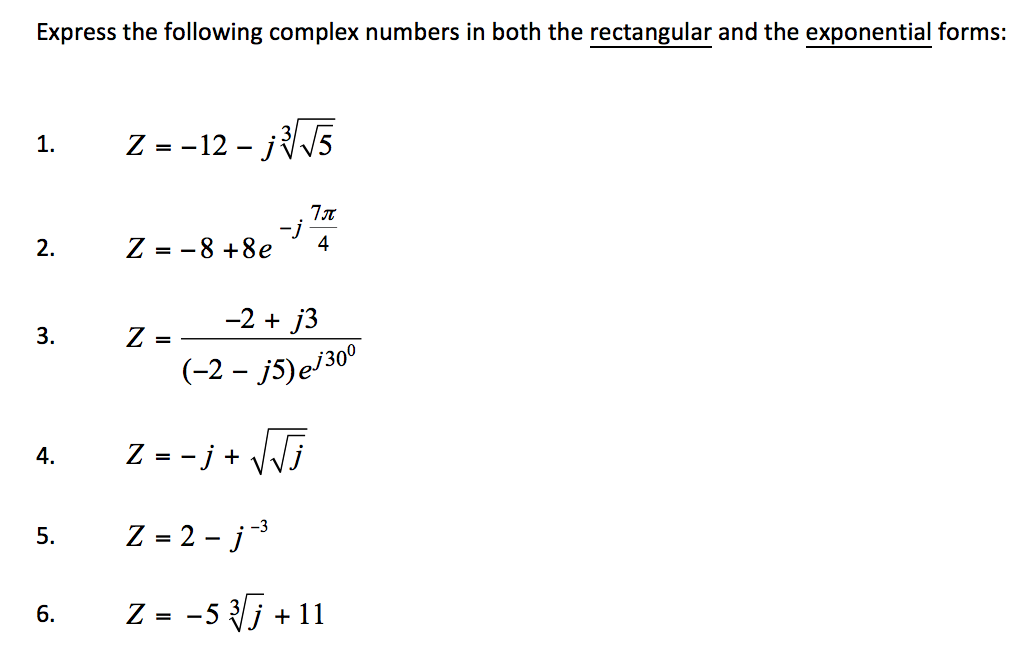 how to add complex numbers in exponential form
