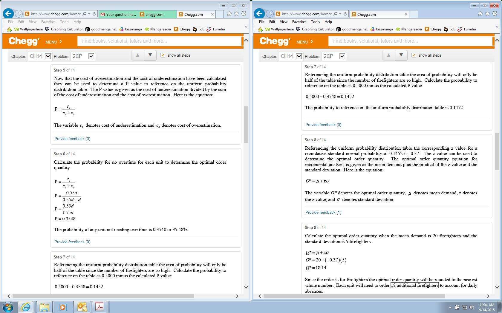 Quantitative methods homework help
