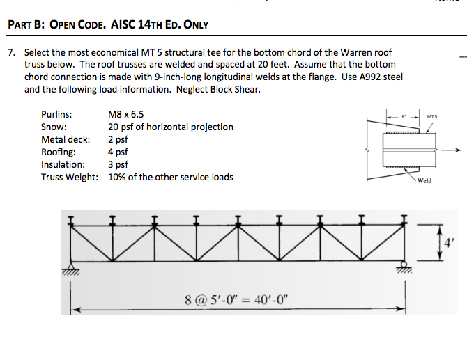 Solved select the most economical mt structural tee for