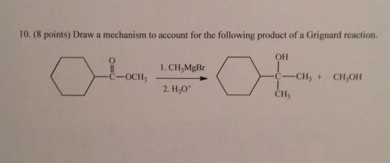 Draw a mechanism to account for the following prod