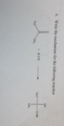 Write the mechanism for the following reaction