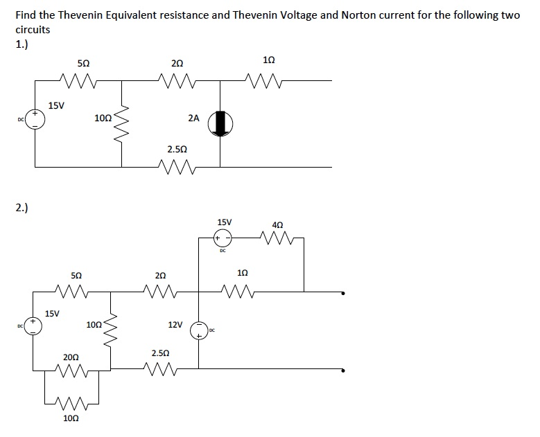 Find the Thevenin Equivalent resistance and Theven