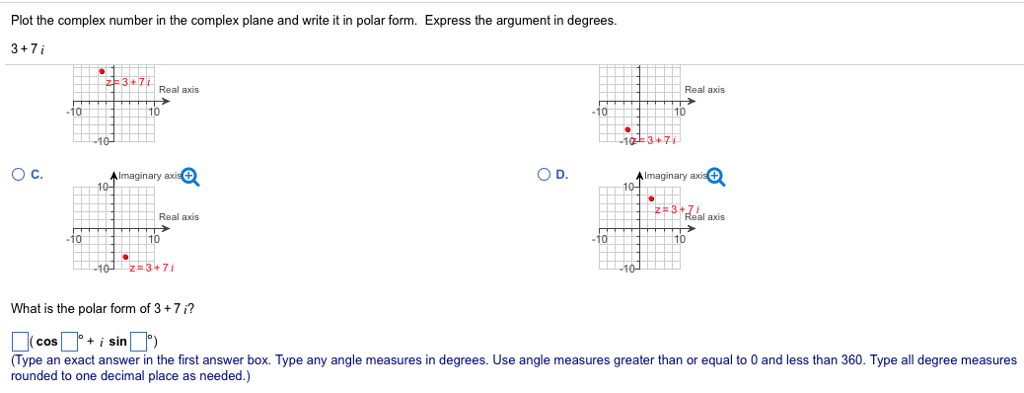 Plot The Complex Number In The Complex Plane And W... | Chegg.com