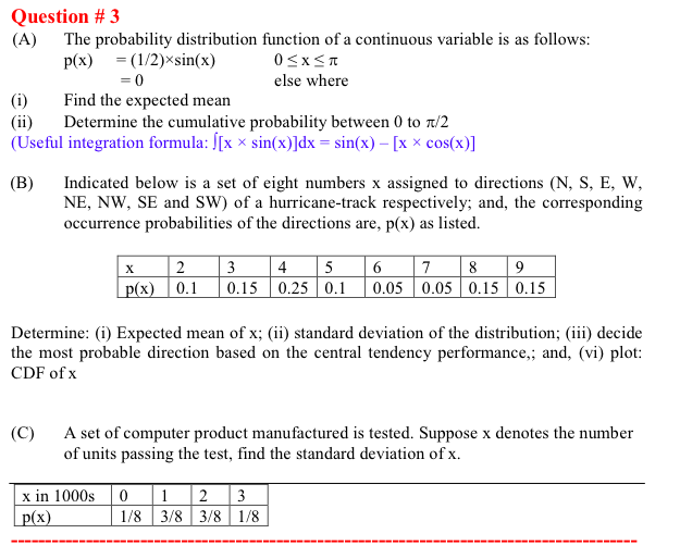 The probability distribution function of a continu chegg question 3 a the probability distribution function of a continuous variable is as follows ccuart Images