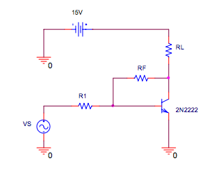 Design the circuit so that the transistor operates