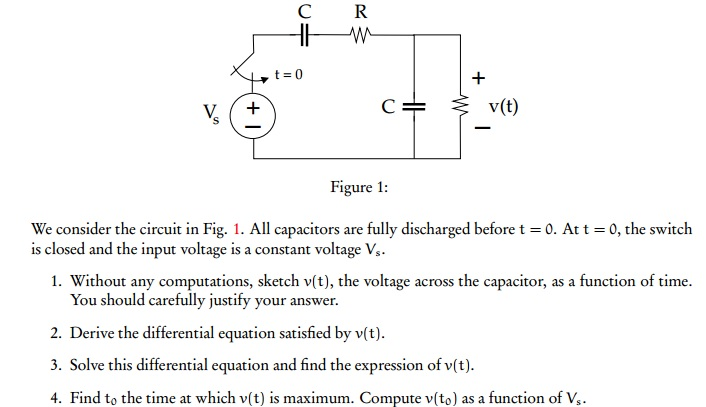 We consider the circuit in Fig. 1. All capacitors