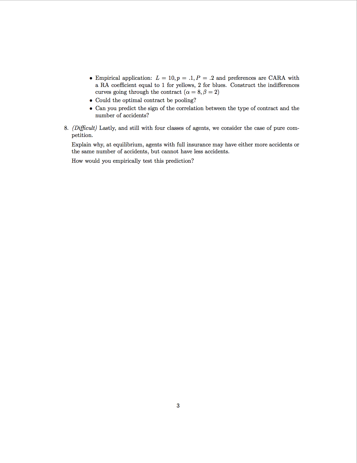 business economics problemset Businessunsweduau unsw business school school of economics   this sample problem set will not be graded, but it will illustrate the.