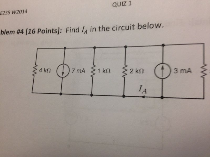 Find IA in the circuit below.