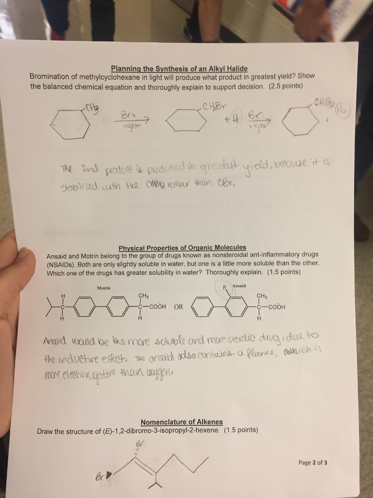Physical Properties Of Dibromo Product