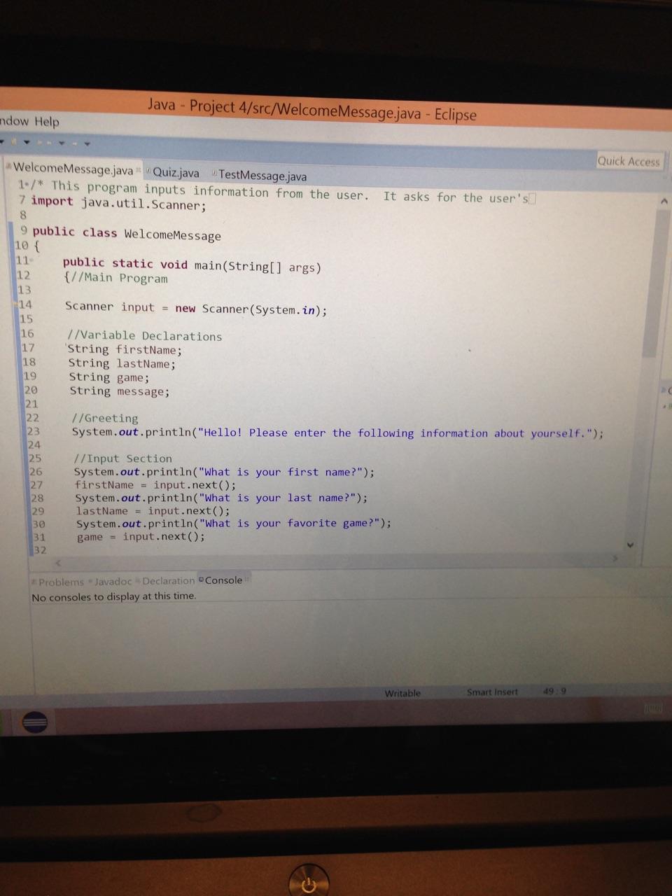 how to take biginteger input in java