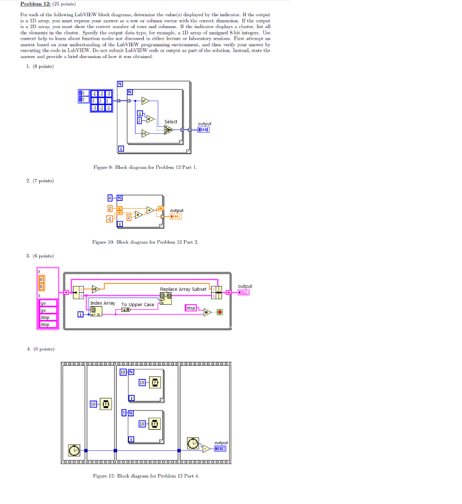 Solved for each of the following labview block diagrams problem 12 25 points for each of the following labview block diagrams ccuart Gallery