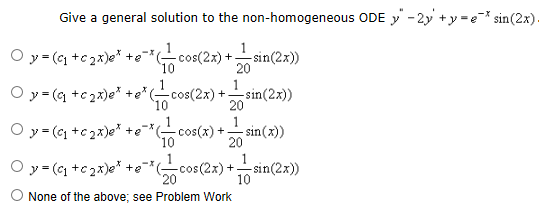 Give a general solution to the non-homogeneous ODE