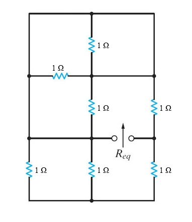Find the equivalent resistance, Req, in the netw