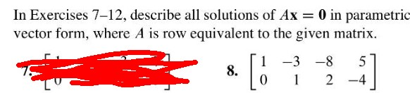 In Exercises 7-12, Describe All Solutions Of Ax = ... | Chegg.com