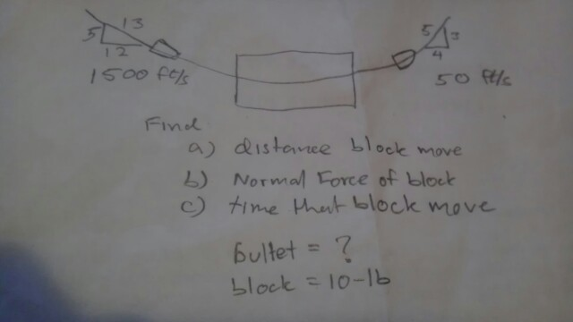 Find Distance block move Normal force of block