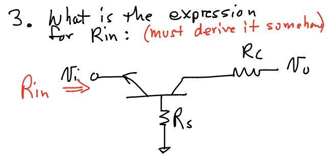 What is the expression for Rin: (must derive it so
