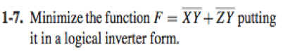 Minimize the function F = + putting it in a logi