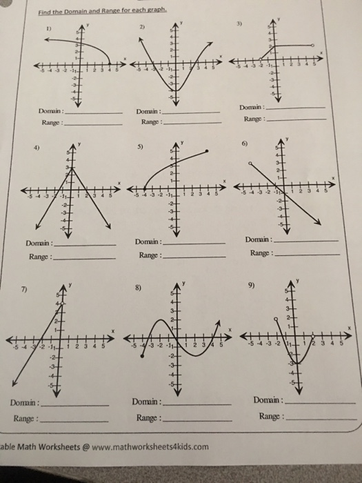 3 2 4 3 Doman Domain Range Domain Range Ran – Domain and Range Worksheets with Answers