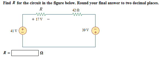 Find R for the circuit in the figure below. Round
