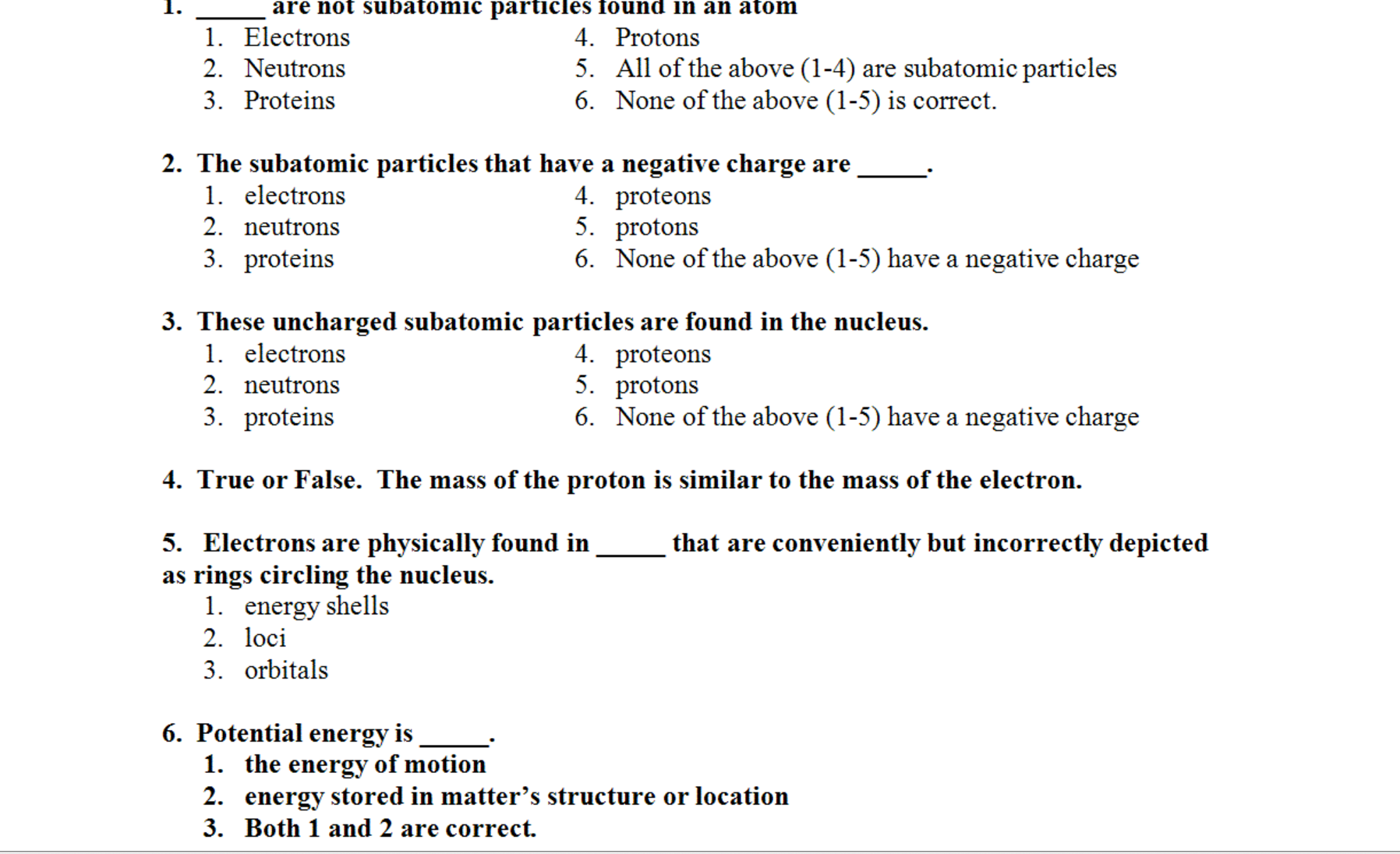 The Subatomic Particles That Have A Negative Charg... | Chegg.com