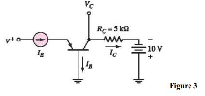 A pnp transistor with ? = 60 is connected in a com