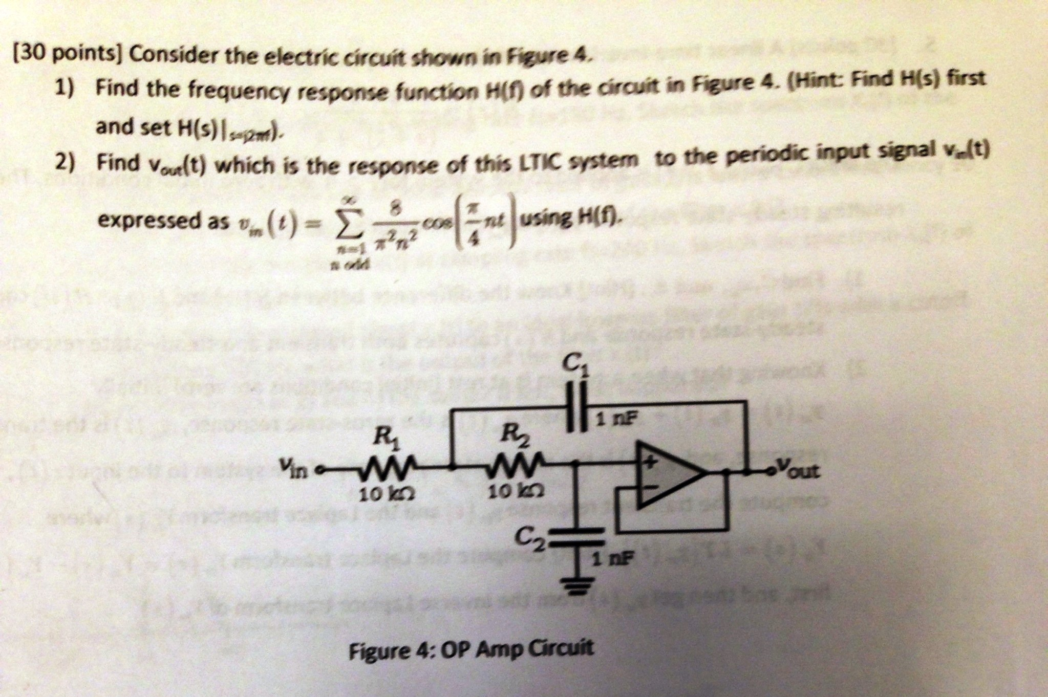 Consider the electric circuit shown in figure 4.
