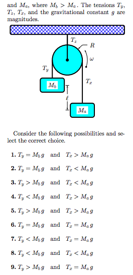 Two masses m* and m2 arc connected in the manner s