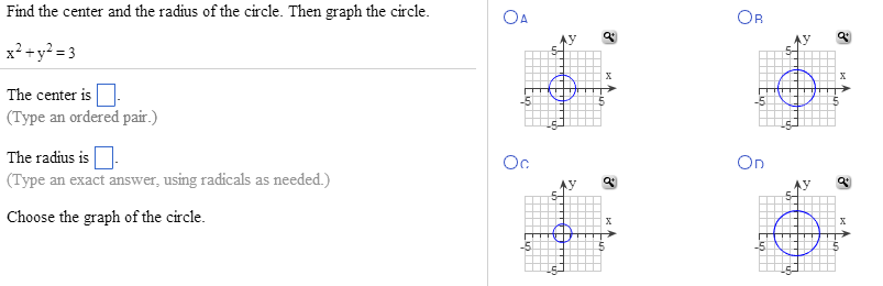 Find the center and the radius of the circle then chegg image for find the center and the radius of the circle then graph the circle ccuart Image collections