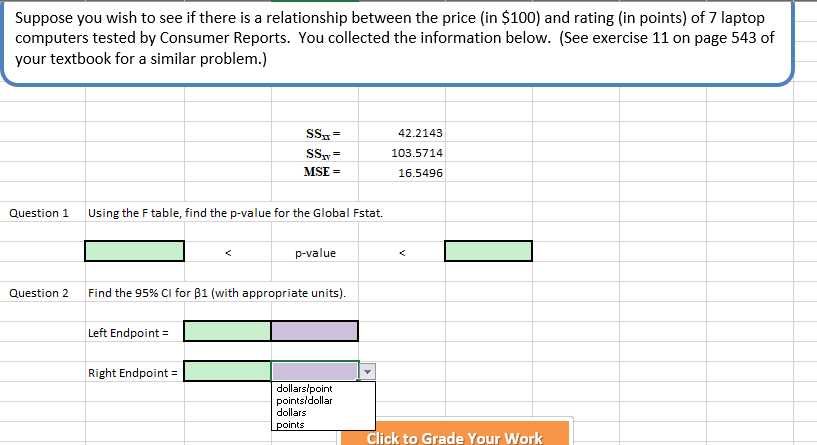 Suppose You Wish To See If There Is A Relationship Between The Price In 100