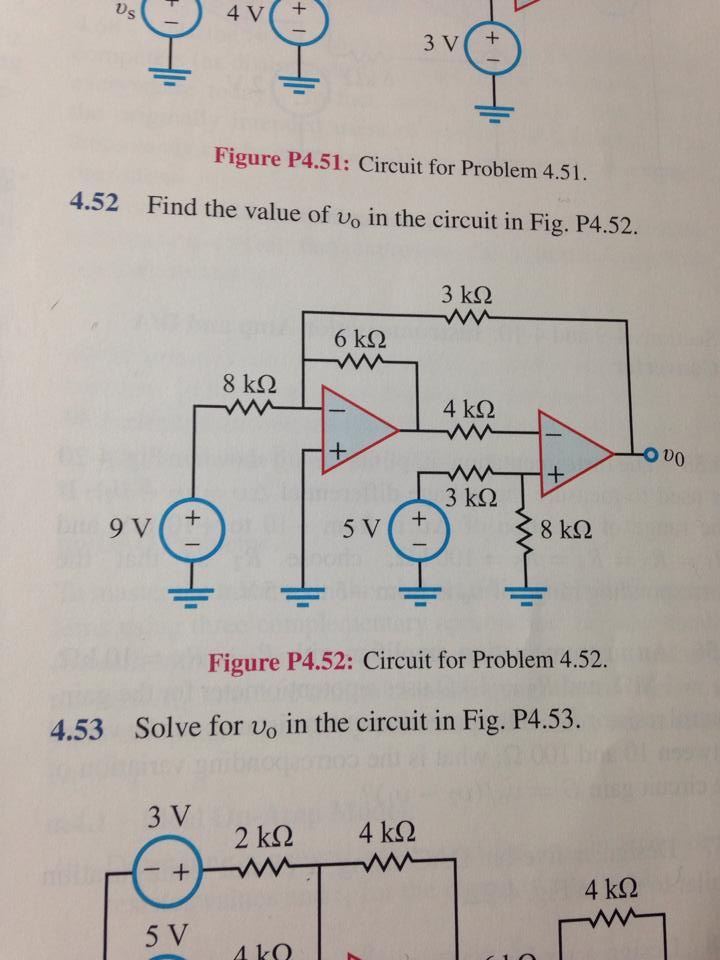 Find the value of v0 in the circuit in Fig. P4.52.